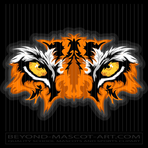 graphic tiger eyes graphic vector mascot clipart