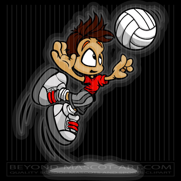 Volleyball cartoon spike