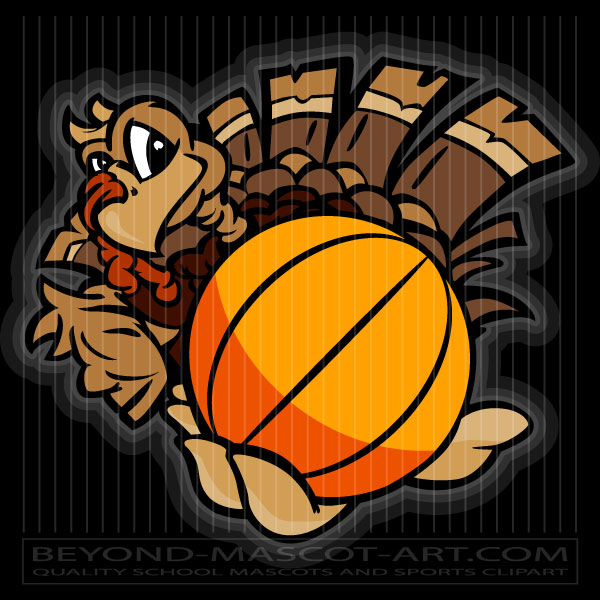 Thanksgiving Basketball Clip Art Cartoon Vector Basketball ...