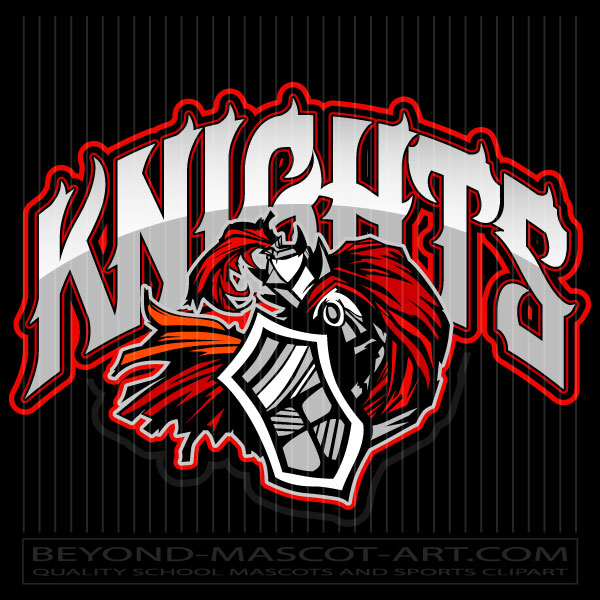 Knights Mascot Logo Graphic Vector Clipart